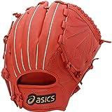 asics(アシックス)  野球 軟式 グローブ アンビシャス 投手 BGR5AP Rオレンジ LH (右投げ用) メンズ