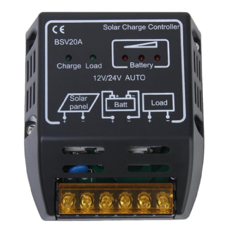 Lovoski  20A 12V 24V  ソーラーパネル用 充電制御 チャージコントローラー レギュレータ
