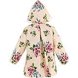 (キュート ウィンク) Cute Wink キッズ ガールズ かわいい 花柄 レインコート 収納袋付 ピンクベージュ M