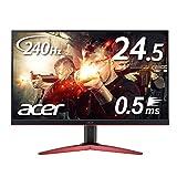 Acer ゲーミングモニター KG251QIbmiipx 24.5インチ 240hz 0.5ms TN FPS向き フルHD 非光沢 フレームレス