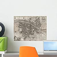 Map City Florence Giuseppe Wall Mural by Wallmonkeys Peel and Stick Graphic (18 in W x 14 in H) WM267419 [並行輸入品]