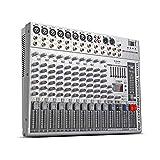 G-MARK GMX1200オーディオミキサーミキサー音楽アナログミキサーミキサー8系統のマイク入力レコーディングスタジオのステージでのカラオケステージの使用