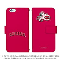 Qua phone QX KYV42 ケース [デザイン:19.レッズ/マグネットハンドあり] MLB 30球団 手帳型 スマホケース カバー キュアフォン au kyv42