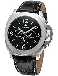 57 POWERS メンズ 腕時計 機械式 自動巻 シースルーバック マリーナ ビックケース