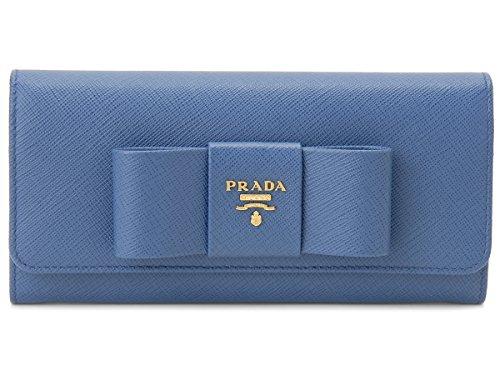 [プラダ]PRADA 長財布 1MH132-ZTM-F0215 サフィアーノ フィオッコ コバルトブルー [並行輸入品]