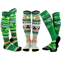 TeeHee St. Patricks Day Cotton Knee High Socks for Women 3-Pack