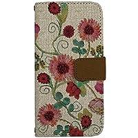 iPhone 6 / iPhone 6s [i6] ケース 手帳型 スマホケース nbfl023a 花柄 ニット風 アイボリー カードタイプ [ZI:L](ジール)