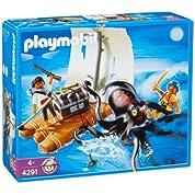 プレイモービル 戦士・バイキング 巨大タコとイカダの海賊 4291