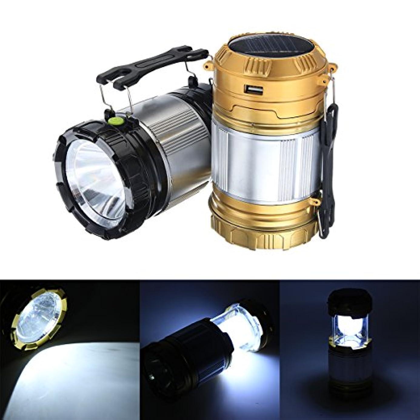 青有用メイドランフィー 5 LED キャンプテントランタンソーラー USB 充電式緊急懐中電灯トーチ