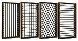 YKKap アルミサッシ 面格子付ガラスルーバー窓 W730*H970 アルミサッシ フレミングJ SG 06909