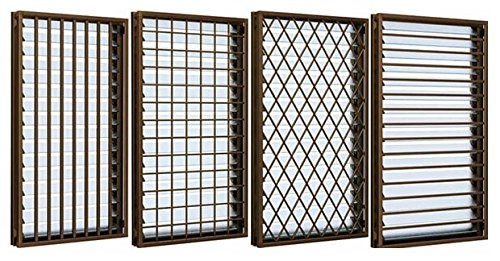 YKKap アルミサッシ 面格子付ガラスルーバー窓 W780*H770 アルミサッシ フレミングJ SG 07407