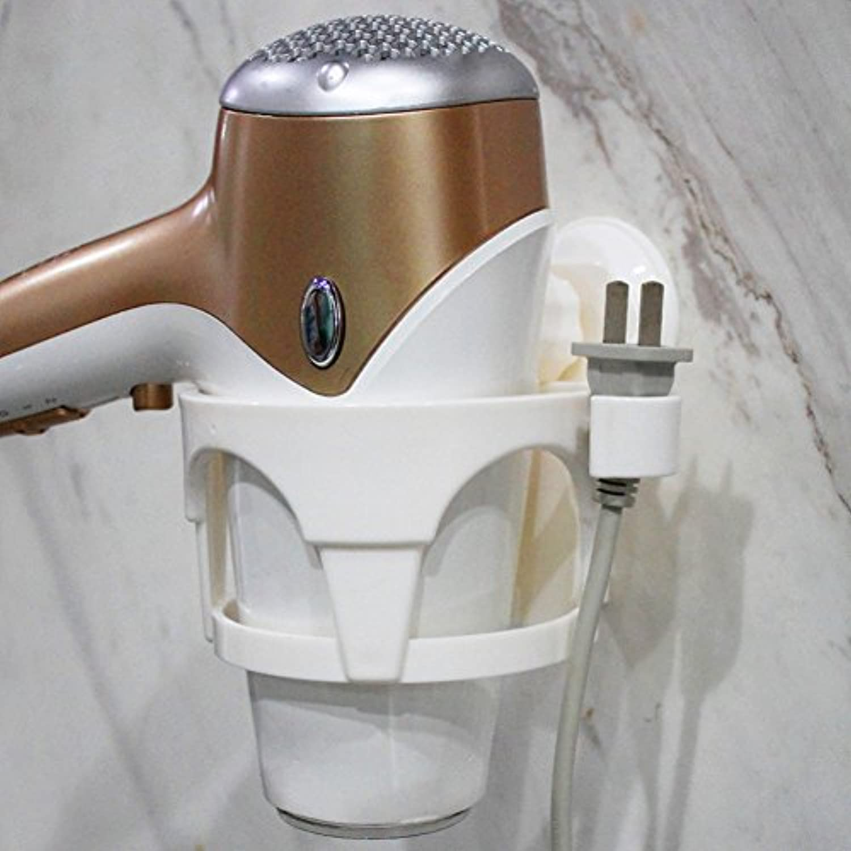 ヘアドライヤーホルダー、ヘアドライヤーシェルフ、ヘアブロードライヤーホルダー、Suckerヘアドライヤーラックシェルフダクトヘアドライヤーラックバスルームの壁がbathroom-a