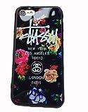 【STUSSY ステューシー】iPhone7用ケース アイフォン7 iPhone7 カバー ロゴデザイン プリント ブランド ヒップホップ 花柄 フラワー (赤青薔薇) [並行輸入品]