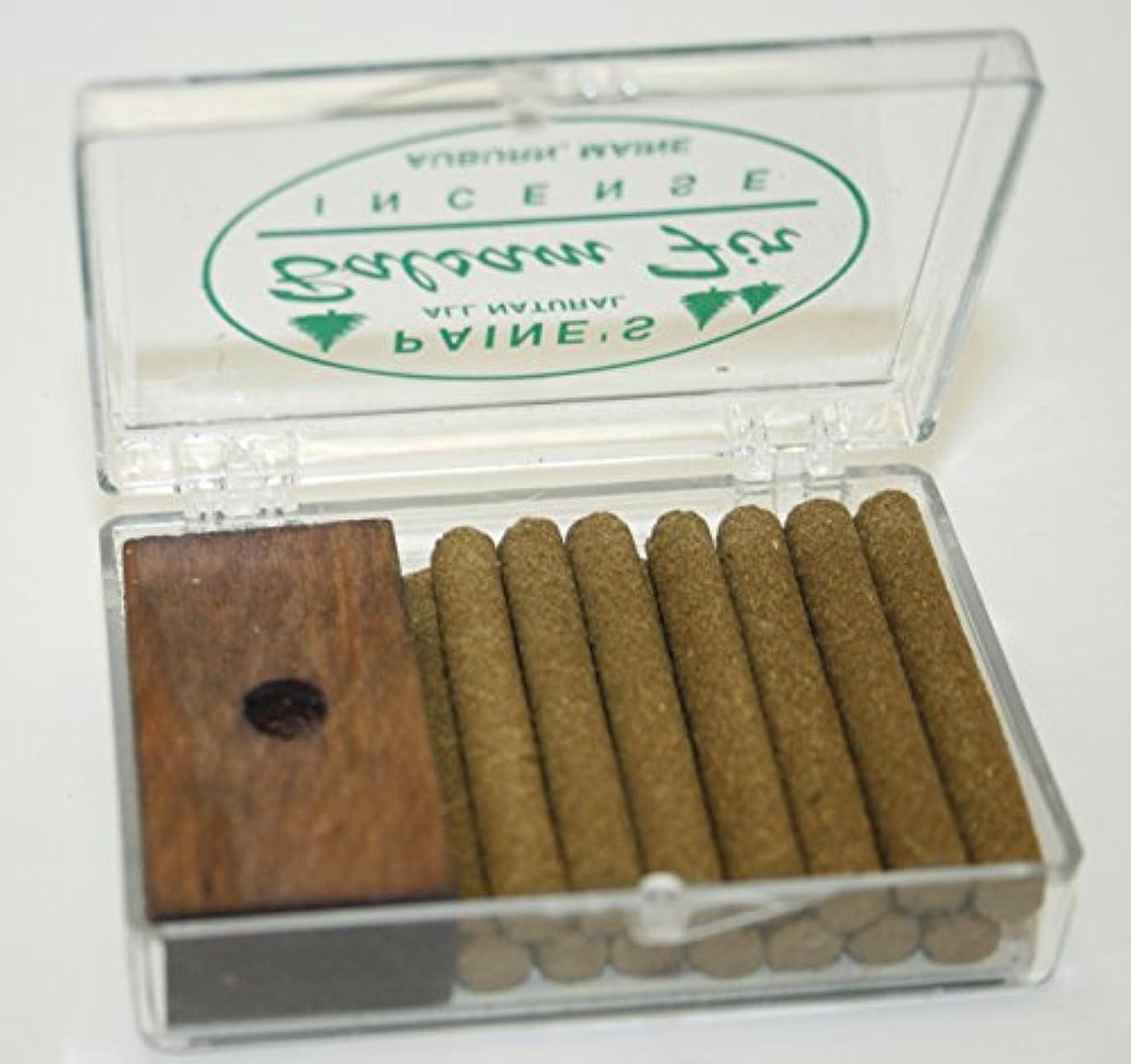 危険ラベいらいらするINCENSE & BURNER comes w/ 14 balsam fir sticks Paine's wood holder lodge style by Paine's