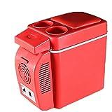 eihuo ポータブル 冷温庫12V 小型 ミニ 車載用/トラベルボート冷蔵庫(レッド)