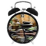 210STAR-ハーブオイルと香りのキャンドルでアジアの禅マッサージストーントリプレットレトロで個性あふれる、家やオフィス用の大きなウェイクアップの目覚まし時計