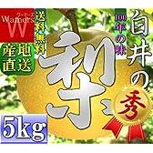 ≪PR 産地直送≫【送料無料】 \千葉県 白井 梨 /品種指定有 【幸水】 5kg5L~4L