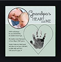 Baby Child Keepsake Handprint Frame with Poetry - Mommy, Daddy, Grandma or Grandpa (Grandpa) by Grandparent Gift Co. [並行輸入品]