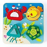 Hape Underwater Escapades Kid's Wooden Sorting Puzzle [並行輸入品]