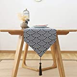 格子 テーブルランナー ホームデコレーション 日本式スタイル 工芸品 おしゃれ 結婚式 パーティー エレガント モダン シンプル (Color : A, Size : 31*180cm)