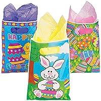 Easter Party Favor Bag Assortment (36 Pack) 1 Dozen of Each Design Bunny Chick and Easter Egg. [並行輸入品]