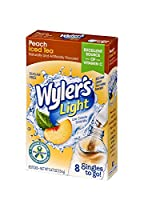 Wyler's Light Singles To Go! Drink Mix Packets, Peach Ice Tea, Sugar Free, 8-Count