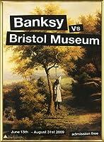 ポスター バンクシー basnksy bristol Hanging Klansman 2009 額装品 アルミ製ベーシックフレーム(ゴールド)