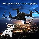 (L8hfblack) - Drone Hacks 5.8G FPV 2.4GHz 6Axis with 2.0MP Camera High Hold Mode One Key Return, 3D Flip RC Quadcopter L8HF (Black)