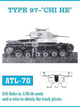 フリウルモデル 1/35 金属可動履帯 97式用 金属パーツ ATL-70
