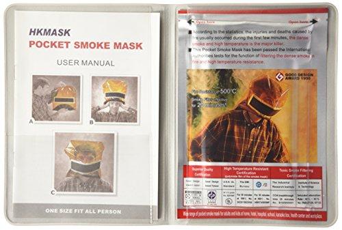 携帯耐熱防煙マスク(フード)