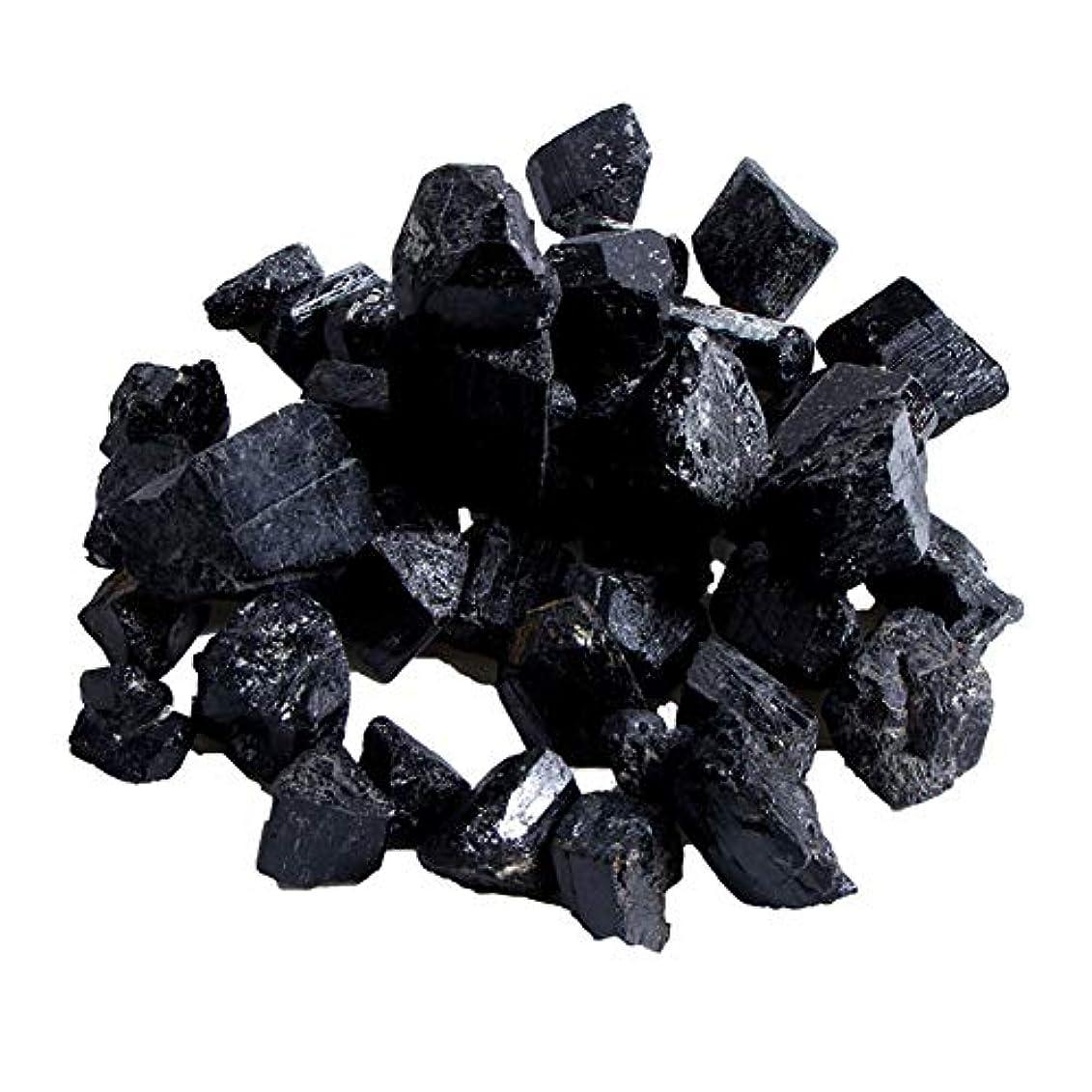 Profeel 蒸し部屋用の天然黒トルマリンクリスタルラフストーンロック鉱物標本新しい