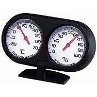 カーメイト 車用 温度計 ツインメーター2 ブラック SZ43