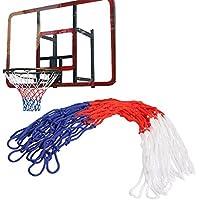 バスケットボールネット、viewhuge標準ナイロンスレッドスポーツバスケットボールフープメッシュNet BackboardリムボールPum 12ループ(ランダムカラー)
