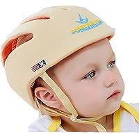 SONGZHILONGベビー?幼児 用 可愛い 洗える スポンジ ヘルメット 綿100% (ベージュ)