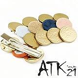 [ATK21] ベロア サークル ゴールド ヘアクリップ フォーククリップ レディース ヘアアクセサリー(ネイビー)