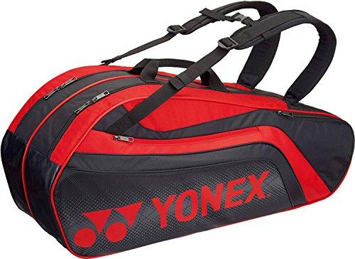 ヨネックス(YONEX) テニス バドミントン ラケットバッグ6 (リュック付) テニスラケット6本用 BAG1812R ブラック×レッド