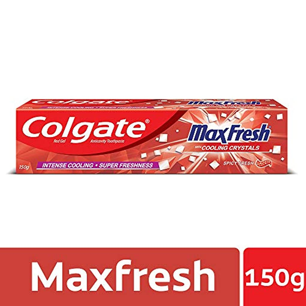 上回る引退した匿名Colgate MaxFresh Anticavity Toothpaste Gel, Spicy Fresh - 150gm