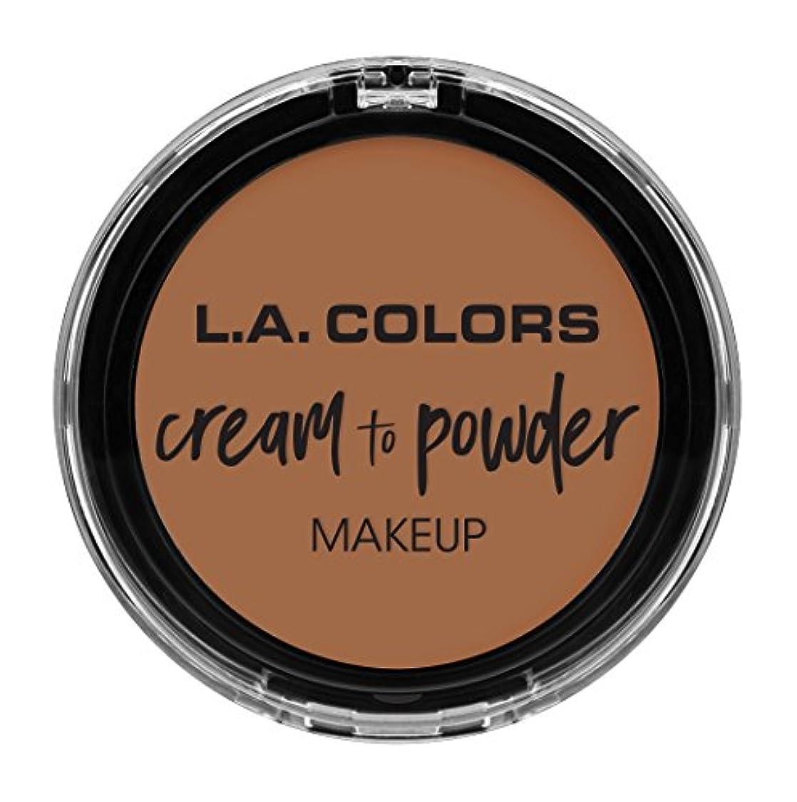 ペイント繁栄不明瞭L.A. COLORS Cream To Powder Foundation - Medium Beige (並行輸入品)