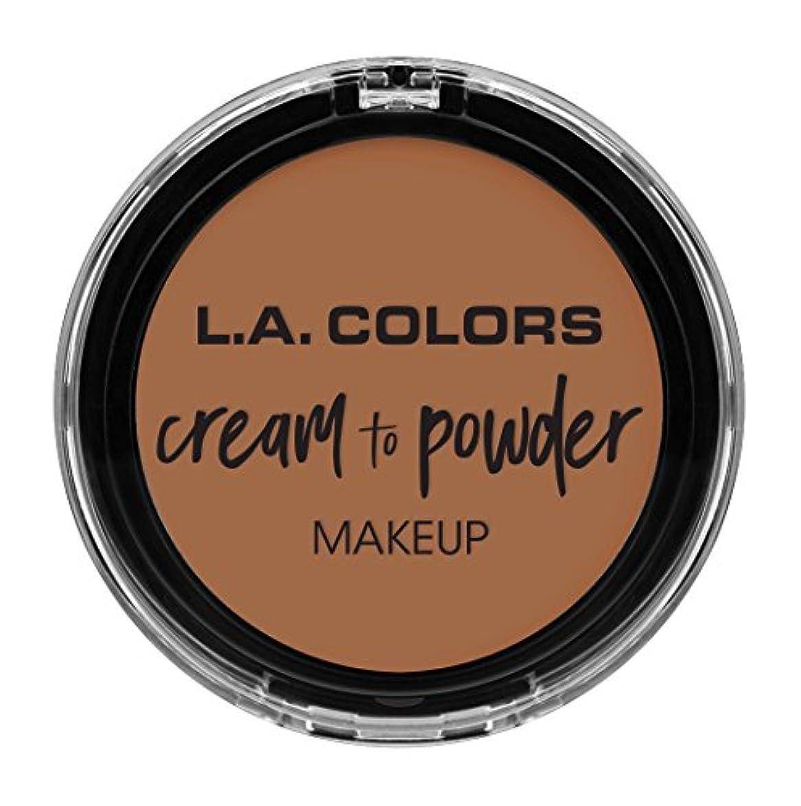 擬人モジュールありがたいL.A. COLORS Cream To Powder Foundation - Medium Beige (並行輸入品)