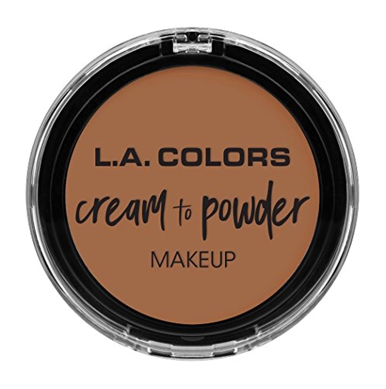 クスコ光沢コインランドリーL.A. COLORS Cream To Powder Foundation - Medium Beige (並行輸入品)