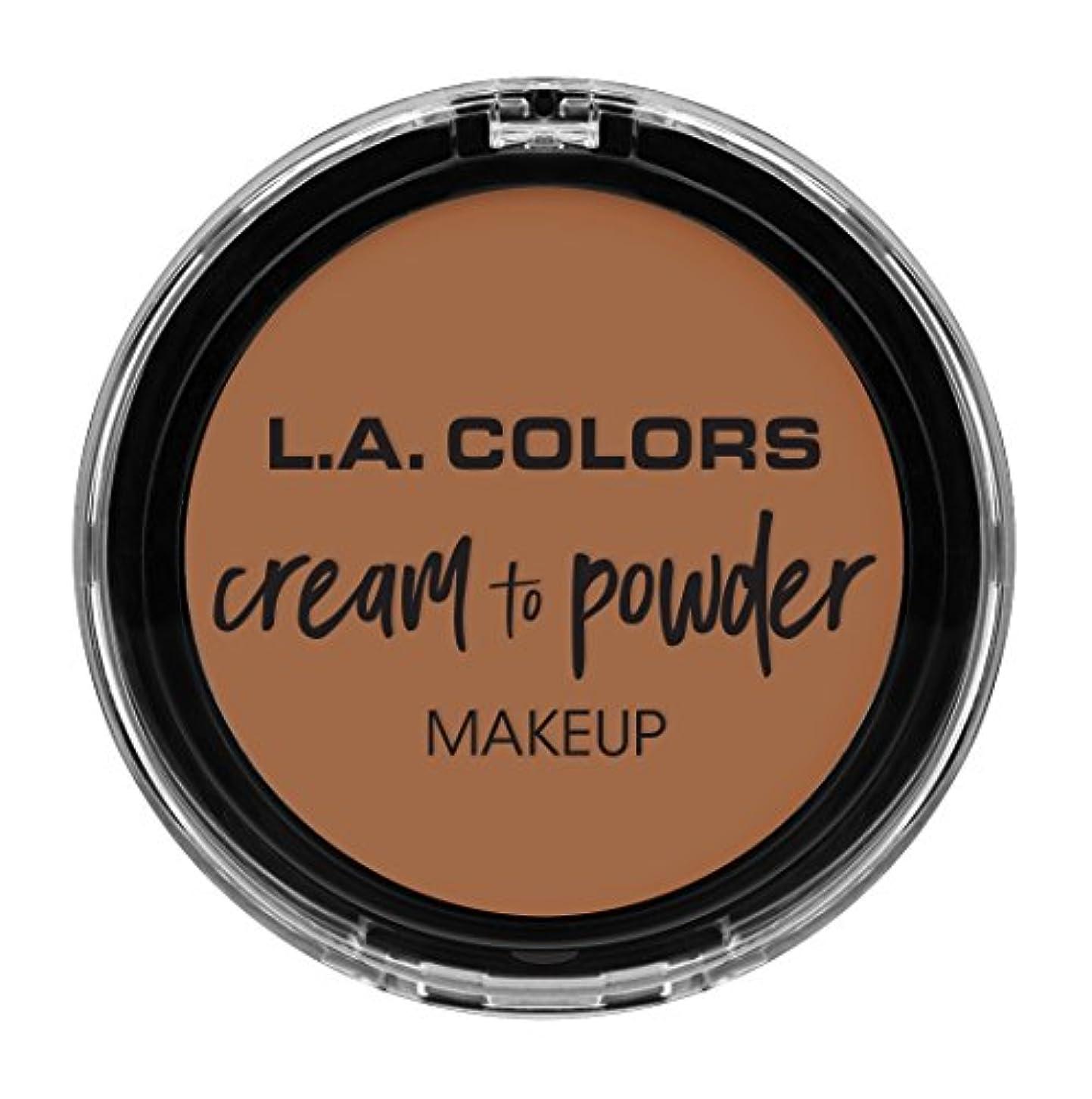 鈍いアブセイ道徳教育L.A. COLORS Cream To Powder Foundation - Medium Beige (並行輸入品)
