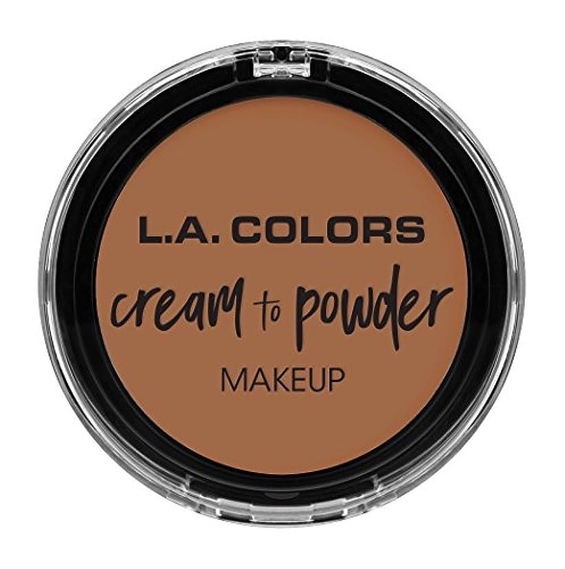 バック基礎香ばしいL.A. COLORS Cream To Powder Foundation - Medium Beige (並行輸入品)