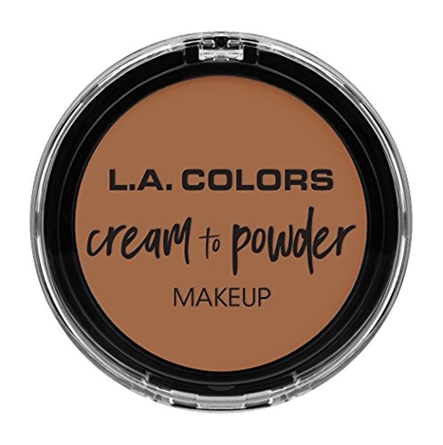 脚控えめな解明L.A. COLORS Cream To Powder Foundation - Medium Beige (並行輸入品)