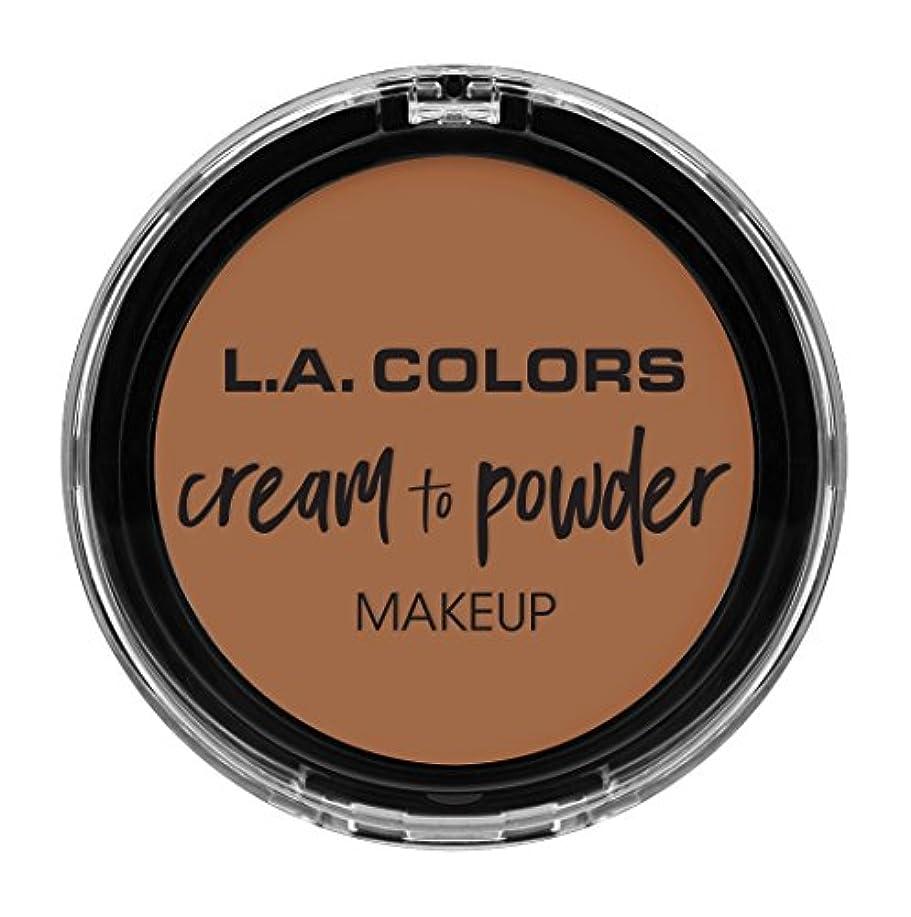 謝罪コーデリア突然L.A. COLORS Cream To Powder Foundation - Medium Beige (並行輸入品)
