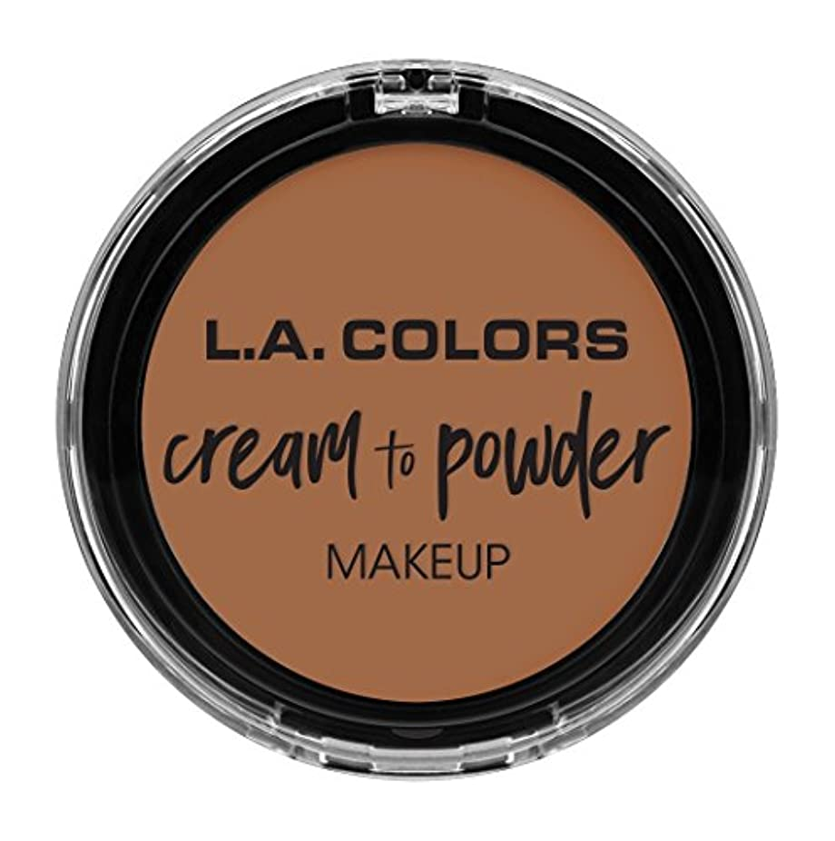 高く薄いですコロニアルL.A. COLORS Cream To Powder Foundation - Medium Beige (並行輸入品)