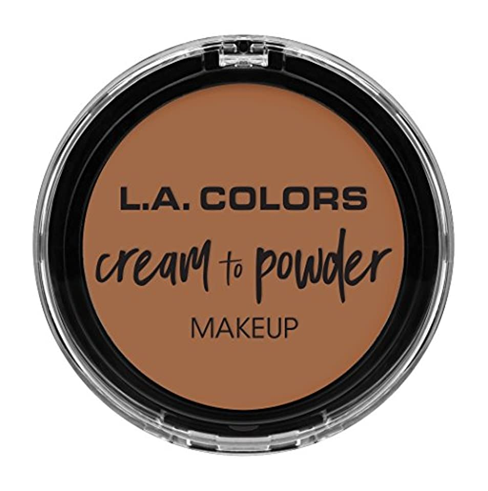 スロープギャザー生息地L.A. COLORS Cream To Powder Foundation - Medium Beige (並行輸入品)