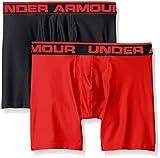 UNDER ARMOUR【アンダーアーマー】ボクサーパンツ 2枚セット 6インチ Boxerjock 男性下着 Black/Red L