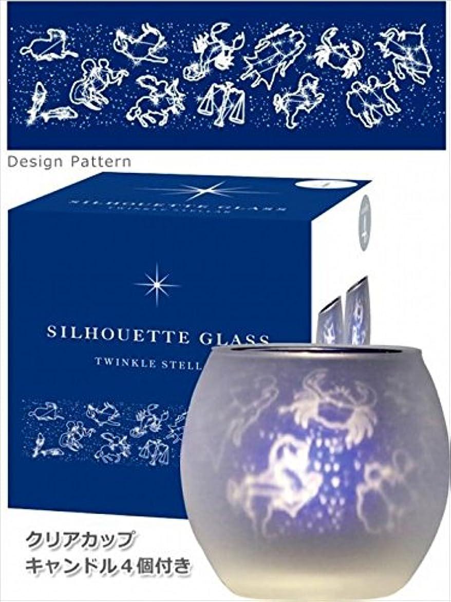 宇宙インシデント終点カメヤマキャンドル(kameyama candle) トゥインクルステラシルエットグラス【キャンドル4個付き】6個セット