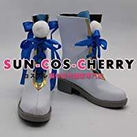 【サイズ選択可】コスプレ靴 ブーツ J-0274 夢王国と眠れる100人の王子様 夢100 雪の生意気王子 覚醒前 シュニー 女性24.5CM