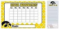 """Iowa Hawkeyes 9"""" x 15""""モロッコDry Erase Calendar and 4"""" x 10"""" Dry Erase Board"""